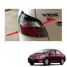 Tail Lamp Light Cover Chrome Trim Fit Toyota Vios Yaris Sedan Belta 2010 - 2013