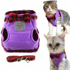 Cat Harness Jacket Vest Walking Leash Breathable Collar Pets Adjustable Clothes