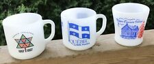 Vintage Federal Mug Lot Of 3 Canadian Quebec Upper Canada Village