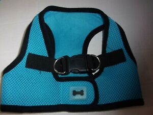 Blue Blk Body Harness Vest M Pet Dog new no choke free step-in pup Medium