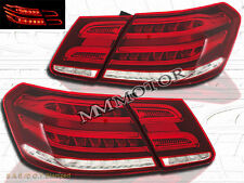 For 2010 2011 2012 2013 Mercedes Benz E-Class 4 Door LED Tail Lights Red