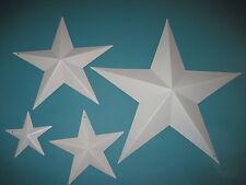 Set of 4 Almond Barn Stars Metal Primitive