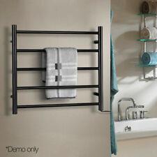 Devanti Heated Electric Steel Warmer Heater Bar Rack Towel Rail Bathroom Ladder