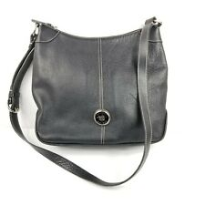 Dooney and Bourke Patent Leather Hobo Crossbody Bag Black