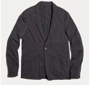 New MARINE LAYER 44 Duke Blazer Faded Black Charcoal Gray Sweatshirt Casual Mens