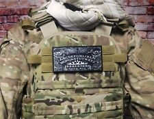 """3x6"""" OUIJA Board Black White Hook Back Morale Patch For Body Armor Plate Carrier"""