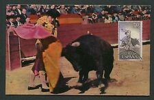 SPAIN MK 1960 STIERKAMPF STIER BULL TORO BULLFIGHT CARTE MAXIMUM CARD MC d4772