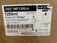 EnteraLite Infinity 1200 ml feeding bags, enteral feeding supplies, 20 units