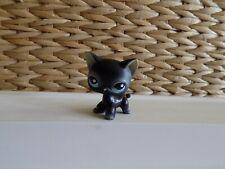 Littlest Pet Shop Black Standing Cat Pink Nose & Blue Eyes