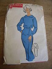 ANCIEN PATRON Favoris & Parisiens -Vintage French ROBE DEUX PIECES JUPE CROISEE
