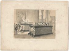 Late 19th Century Lithograph: Tombs of Charles the Bold & Mary of Burgundy