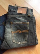 W30 L34 NUDIE jeans SHARP BENGT - BIG BENGT GREY BLACK LAB WASH REGULAR TAPERED