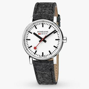 Mondaine Evo2 Quartz White Dial Black Synthetic Watch MSE.35110.LH