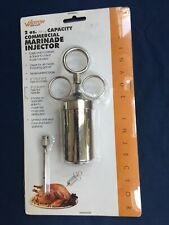 Weston Commercial Marinade Injector 2oz. Capacity Nickle Plated Brass(23-0402-W)