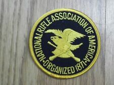 "NRA- NATIONAL RIFLE ASSOCIATION EMBROIDERED PATCH 3"" Round YELLOW"