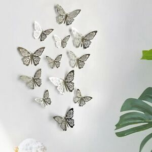 12 pk 3D Butterfly Wall Decals Stickers Removable Kids Nursery Decoration AU