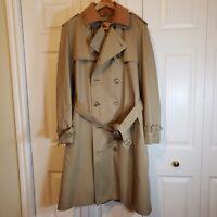 Misty Harbor Zip-out Lined Men's Trench Coat 40 Regular