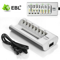 EBL 8 Slot Battery Charger For AA AAA Ni-MH Ni-CD Rechargeable Batteries