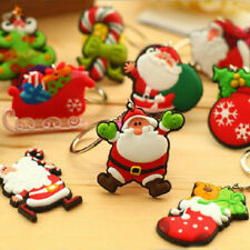 5pcs Fashion PVC Soft Rubber Key Chain Christmas Gift Key Ring Keychain Keyfob