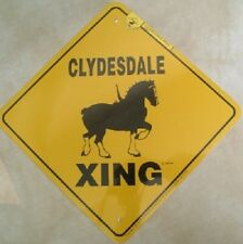 Xing Yard Sign - Clydesdale Draft Horse