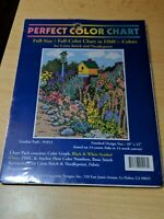 "Perfect Color Chart ""Garden Path"" Pattern for Cross Stitch or Needlepoint"