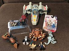 STAR WARS Galactic Heroes Lot RANCOR TAUNTAUN SPEEDERBIKE X-WIng Figures