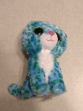 "TY Beanie Boos: 9"" Leona The Cat With Green Glitter Eyes"
