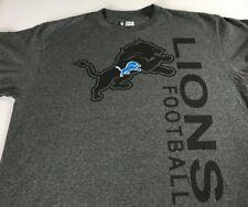 Detroit Lions T-Shirt Mens SZ M/L Dark Gray NFL Football Big Letters Cotton Poly