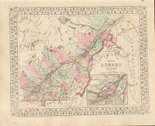 Antique County Map Quebec - Mitchell's Atlas of the World c. 1881