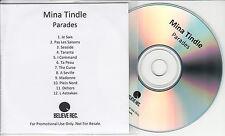 MINA TINDLE Parades 2014 UK 12-trk promo test CD