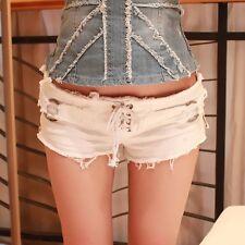 Summer Fashion Women Sexy High Waist Jeans Hot Pants Casual Denim Shorts White