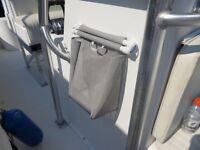 BOAT MARINE AUTO CAMPER TRAILER RV HANGING TRASH BAG WHITE TRASH HOLDER