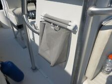 Mesh Trash Bag for Boat or RV -- GRAY (Installs with stainless snap screws)