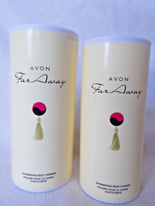 AVON FAR AWAY SHIMMERING BODY POWDER 40g x 2 -  *BRAND NEW*