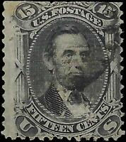 """VEGAS - 1867 Sc# 98 Lincoln 15c With """"F"""" Grill - Small Tear Top (FA25)"""