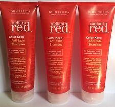 3 x JOHN FRIEDA RADIANT RED COLOR KEEP ANTI-FADE SHAMPOO 8.45 FL OZ