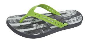 Ipanema Arpoador Mens Beach Flip Flops Beach Pool Sandals - Grey Lime