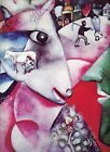Chagall I AND THE VILLAGE surreal fantasy work 1973 repro color print