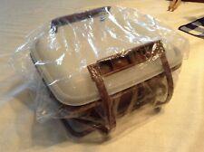 NEW Tupperware Pack N Carry Lunch Box Brown Vintage Sealed in Plastic