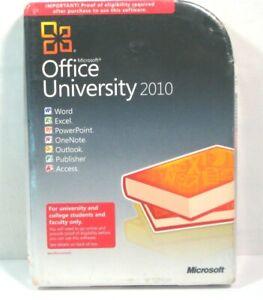 Microsoft Office University 2010 New Sealed Please Read Description