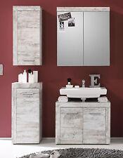 Badmöbel Badezimmer Set weiß Bad Shabby Vintage 4 tlg mit Spiegelschrank Cancun