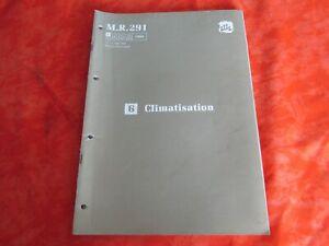 Manuel d'atelier Renault 21 partie 6 du M.R 291 Climatisation 1989