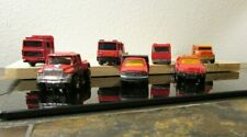 Matchbox Emergency & Truck Vehicles - Set of 7 Red, Loose, 1:64 Scale