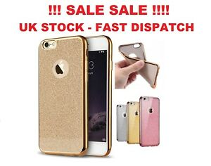 Silicone Glitter Shock Proof Phone Case Cover For Apple iPhone 6 / 6s  - Gold