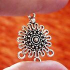 6 Chandelier Earring Findings 3 Hole Connector Necklace Pendant Component Silver