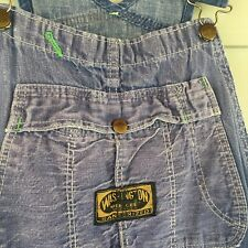 Vtg Washington Dee Cee Sanforized Jeans Denim Button Fly Overalls 29 x 30