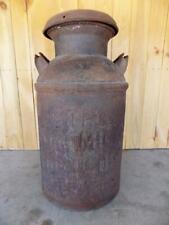 Vintage Rustic UMPC Large Metal Milk Can Jug w/Original Lid - RARE