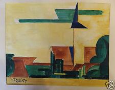 Daniele Perré Ferme ensoleillée 1957 aquarelle sur papier (watercolor)