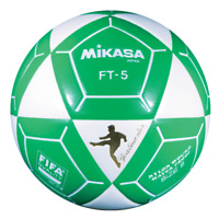 Mikasa FT5 Goal Master Soccer Ball Size 5 White/Green Official Footvolley Ball