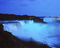 New York NIAGARA FALLS @ NIGHT Glossy 8x10 Photo Waterfall Print Wall Art Poster